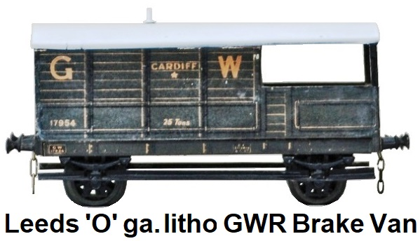 Leeds Model Company 'O' gauge litho GWR 12-ton Mineral Brake Van made 1925-28