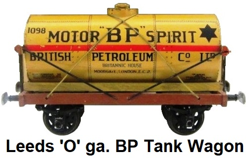 Leeds Model Company 'O' gauge Wood Construction Motor BP Spirit Tank Wagon made 1922-32
