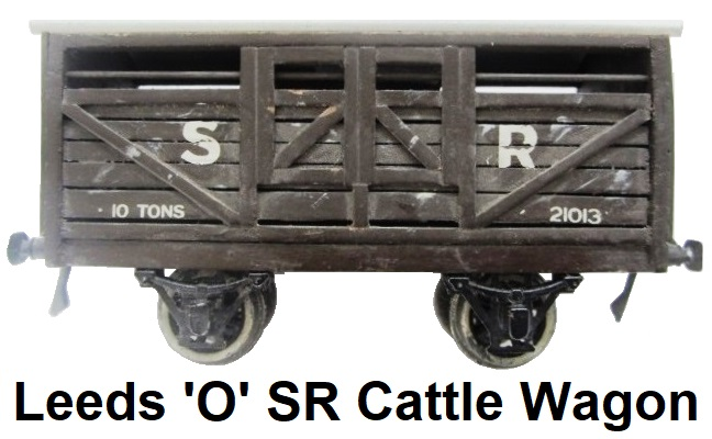 Leeds Model Company 'O' gauge B series Southern Railway Brown Cattle Wagon #21013 made 1922-28