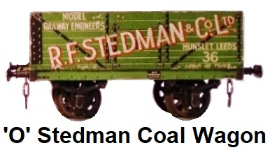 Leeds Model Company 'O' gauge litho R.F. Stedman & Co. Ltd. Coal Wagon