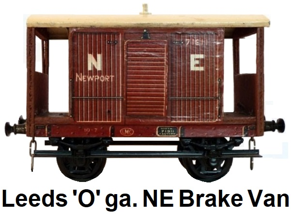 Leeds Model Company 'O' gauge litho bauxite NE Goods Brake Van made 1923-36