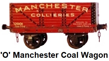 Leeds Model Company 'O' gauge litho Manchester Collieries Coal Wagon