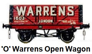 Leeds Model Company 'O' gauge Warrens of London Open Wagon