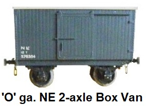 Leeds Model Company 'O' gauge 2-axle 12-ton Goods Van, Bakelite plastic-molded sides in bauxite made 1937-39