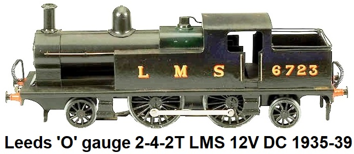 Leeds Model Company 'O' gauge 2-4-2T LMS 12 volt DC electric circa 1935-39