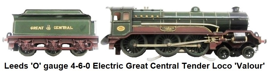 Leeds Model Company 'O' gauge 4-6-0 Electric Great Central Locomotive and Tender 'Valour'