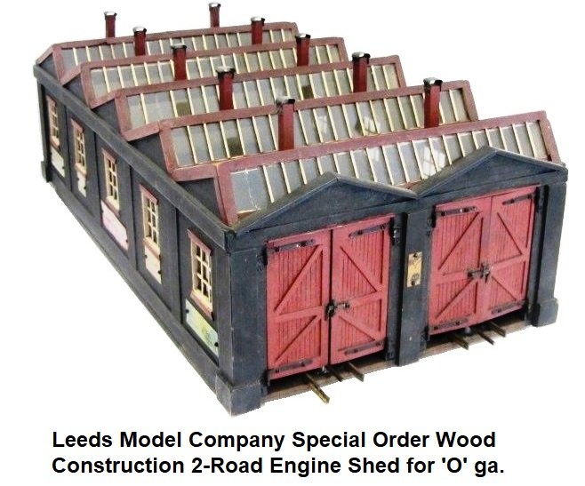 Leeds Special Order Wood Construction 2-Road Engine Shed for 'O' gauge