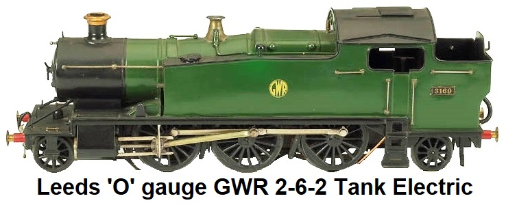Leeds Model Company 'O' gauge 2-6-2 Great Western Railway Tank Loco electric