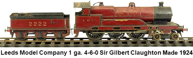 Leeds Model Company 1 gauge 4-6-0 Sir Gilbert Claughton
