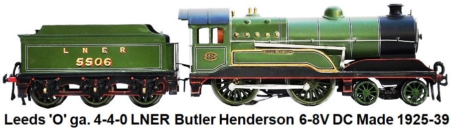 Leeds Model Company 'O' gauge 4-4-0 LNER Express Locomotive, D11 Improved Director Class 'Butler Henderson' 6-8V DC made 1925-39