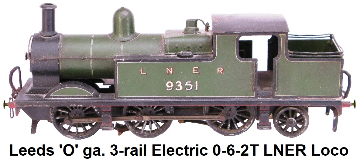 Leeds Model Company 'O' Gauge 0-6-2 LNER Tank Loco for 3-rail electric