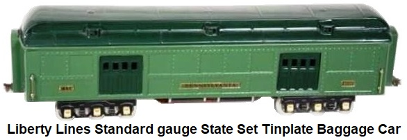 Liberty Lines Standard gauge State Set Tinplate Baggage car