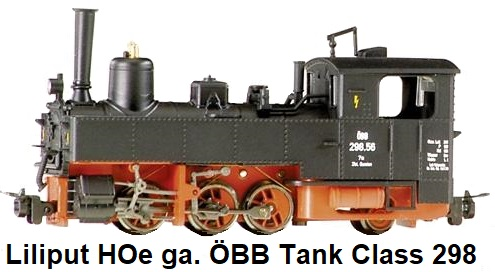Liliput HOe narrow gauge Tank locomotive, Type U, Class 298, ÖBB Austrian Railway Livery