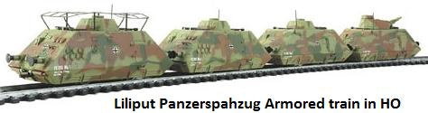 Liliput Panzerspahzug Armored train in HO
