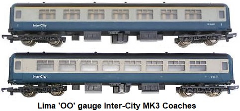 Lima Blue-Grey Inter-City Coaches in 'OO' or HO gauge
