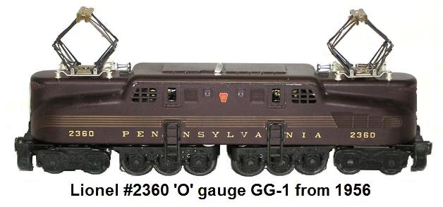 Lionel #2360 'O' gauge GG_1 Electric Outline Locomotive from 1956