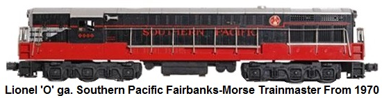 Lionel MPC 'O' gauge Southern Pacific Fairbanks-Morse Trainmaster Black Widow circa 1970
