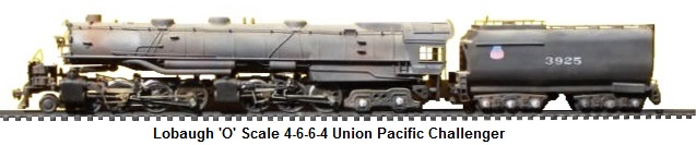 Lobaugh 'O' scale 4-6-6-4 Union Pacific Challenger loco and tender