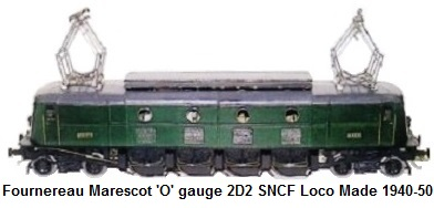 Fournereau Marescot electric drive 2D2 5401 SNCF made 1940-1950