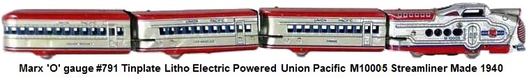Marx 'O' gauge M10000 Union Pacific Passenger Streamliner first made in 1934