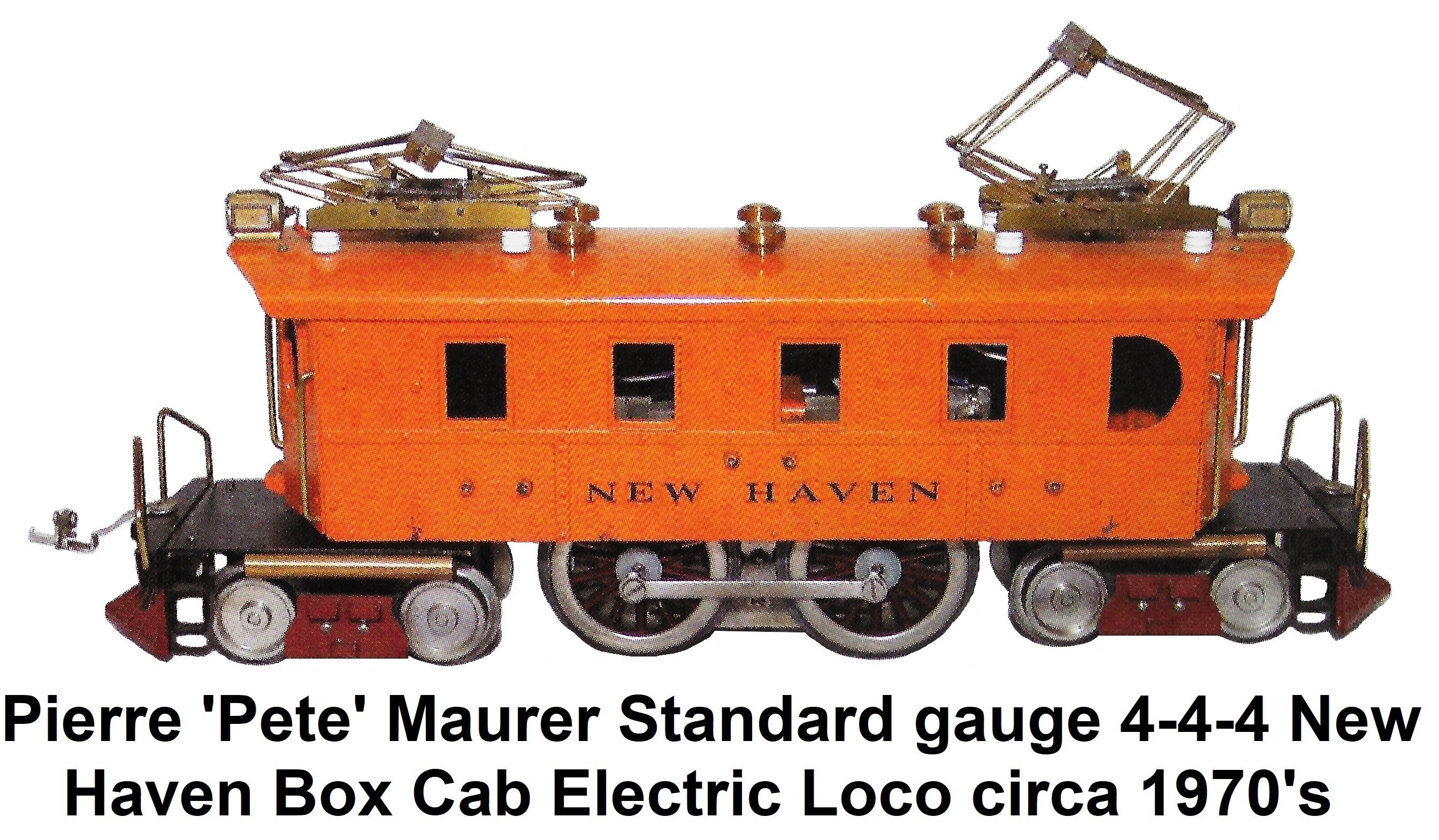 Maurer Standard gauge 4-4-4 New Haven Box Cab Electric circa 1970's