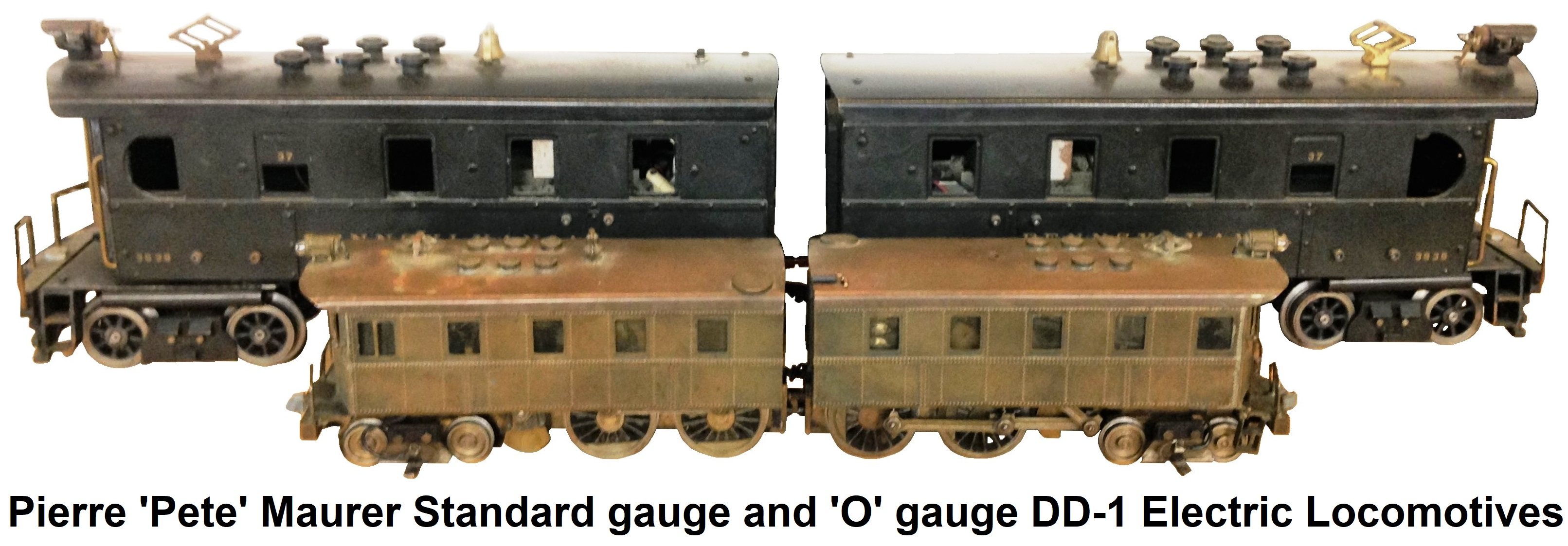 Pierre 'Pete' Maurer Trains Standard gauge and 'O' gauge DD-1 Electric Locomotives