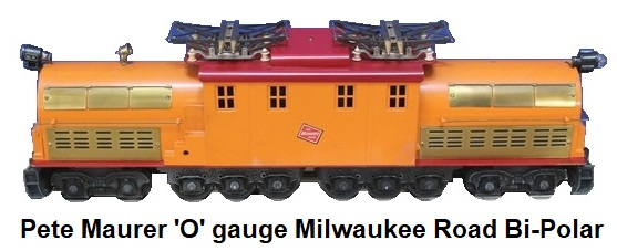 Pete Maurer Trains 'O' gauge Milwaukee Road Bipolar Electric locomotive