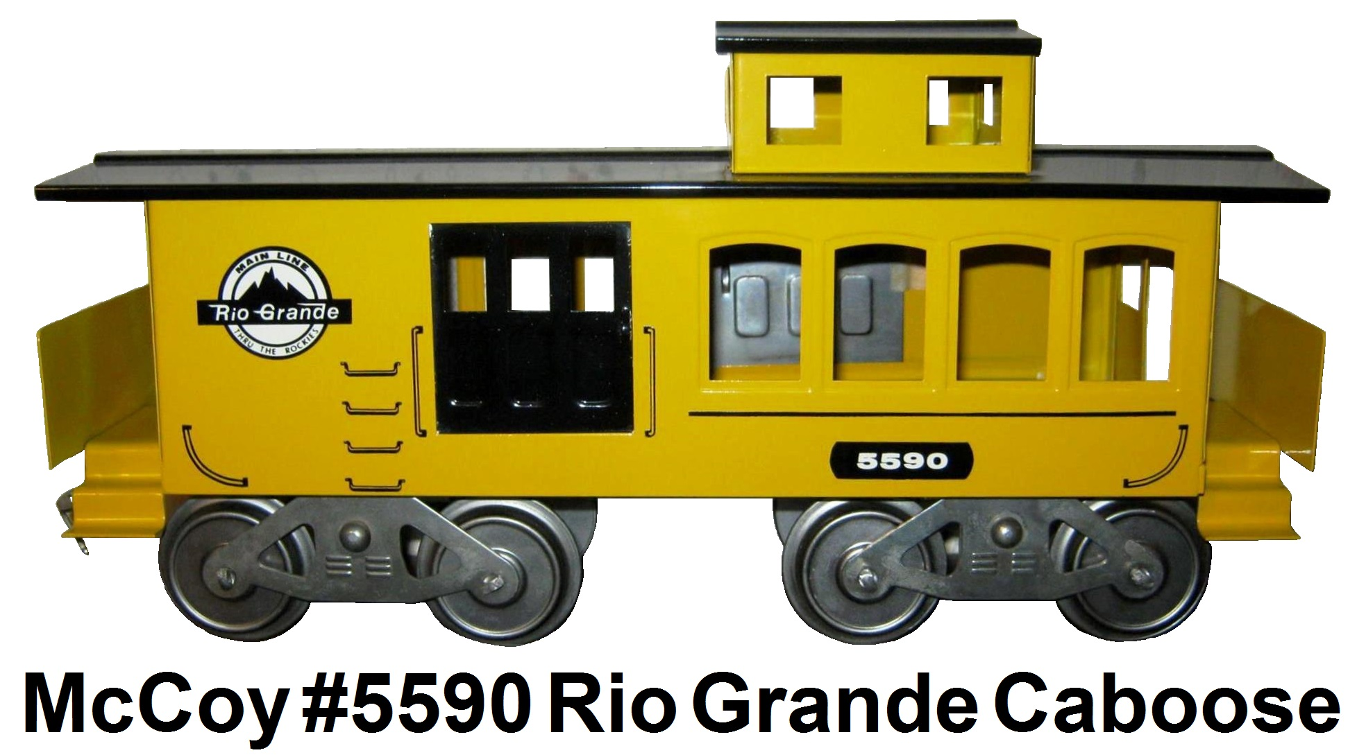 McCoy Standard gauge #5590 Rio Grande Caboose built with 2 right sides