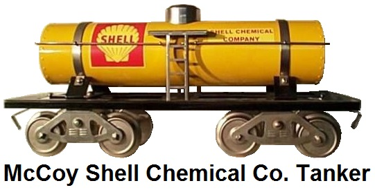 McCoy Standard gauge #281 Shell Chemical Company single dome tank car