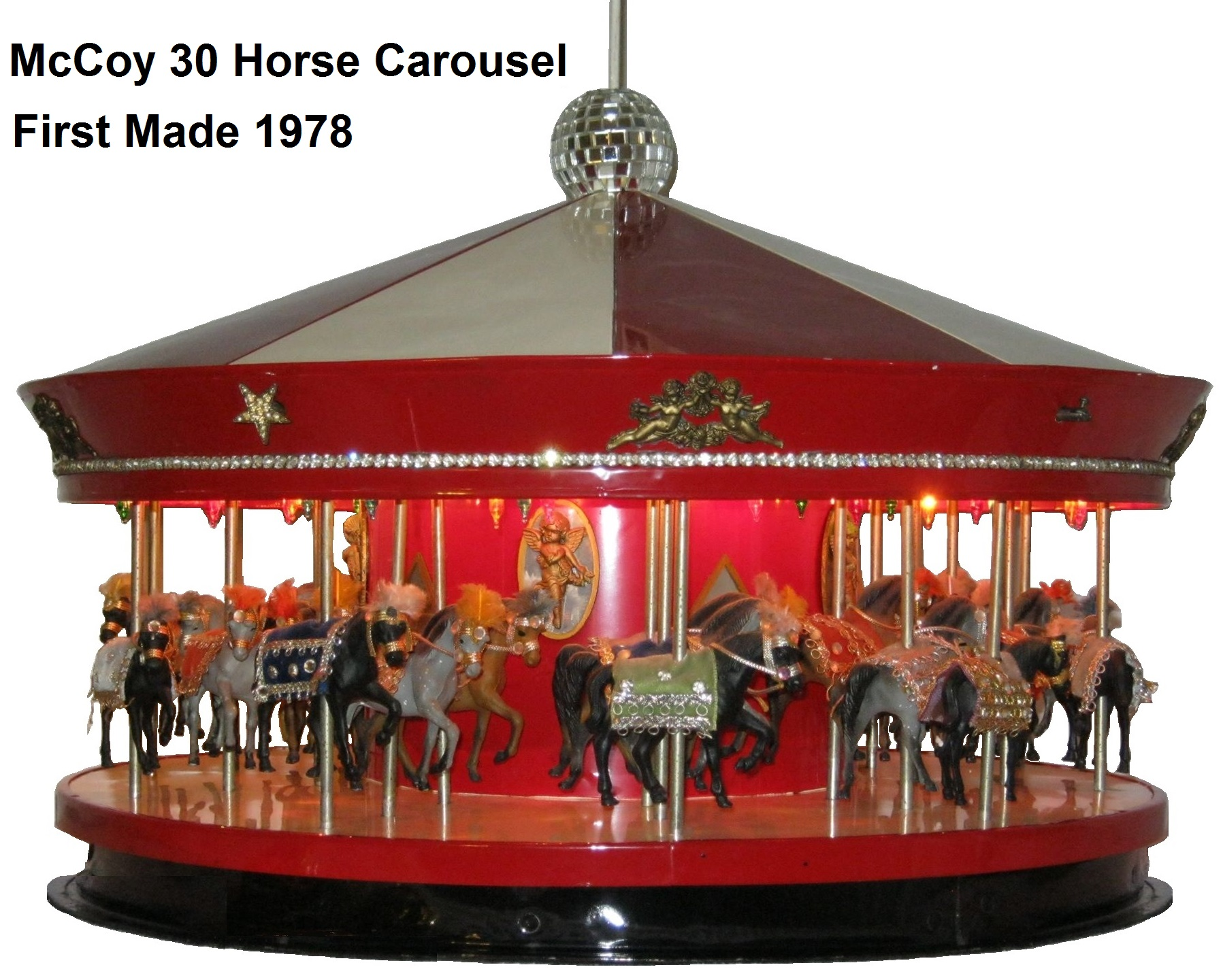 McCoy 30 horse carousel first made 1978