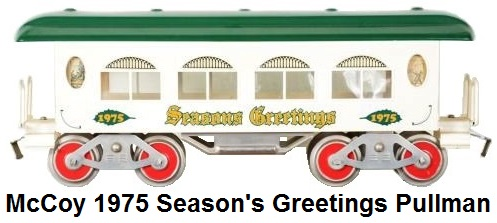 McCoy Christmas Greetings Standard gauge 1975 Christmas Party coach