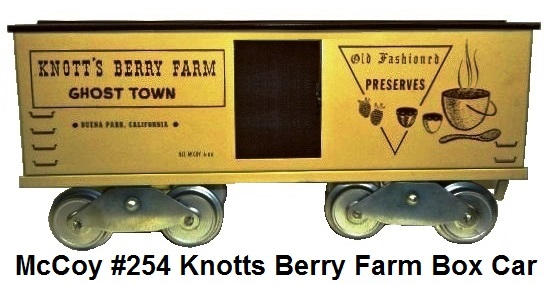 McCoy Standard gauge #254 Knott's Berry Farm Ghost Town boxcar made 1966-67