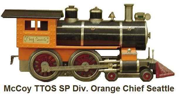 McCoy TTOS Southern Pacific Division orange Chief Seattle 4-4-0 Loco only 1 made