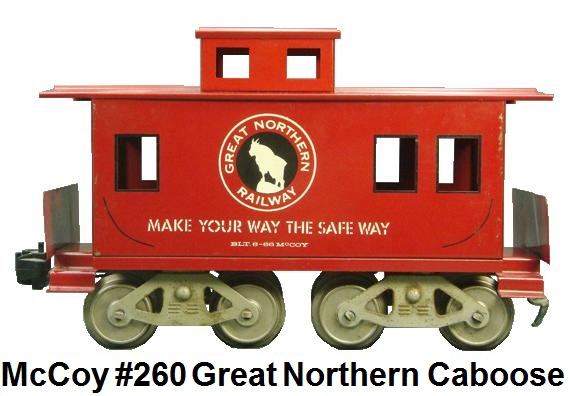 McCoy Standard gauge #260 Great Northern Red Caboose