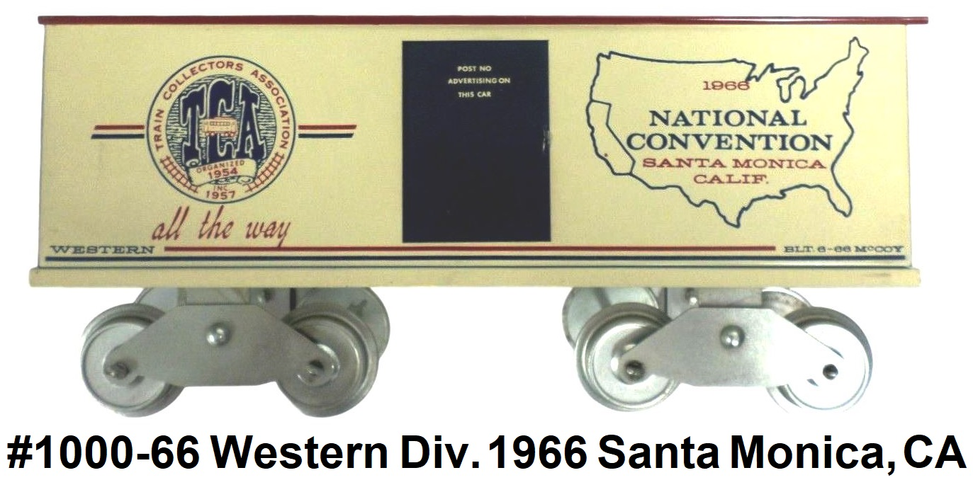 McCoy 1966 TCA National Convention Western Division Standard gauge Box Car