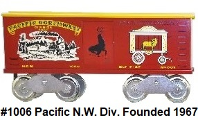 McCoy Standard gauge TCA 1967 Pacific Northwest Division boxcar #1006