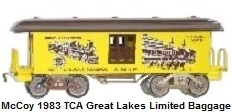 McCoy Standard gauge Churchill Downs baggage car made for 1983 TCA National Convention - Great Lakes Limited.jpg