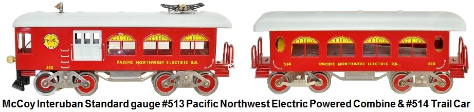 Mccoy Interuban Pacific Northwest Electric powered combine with matching trail car