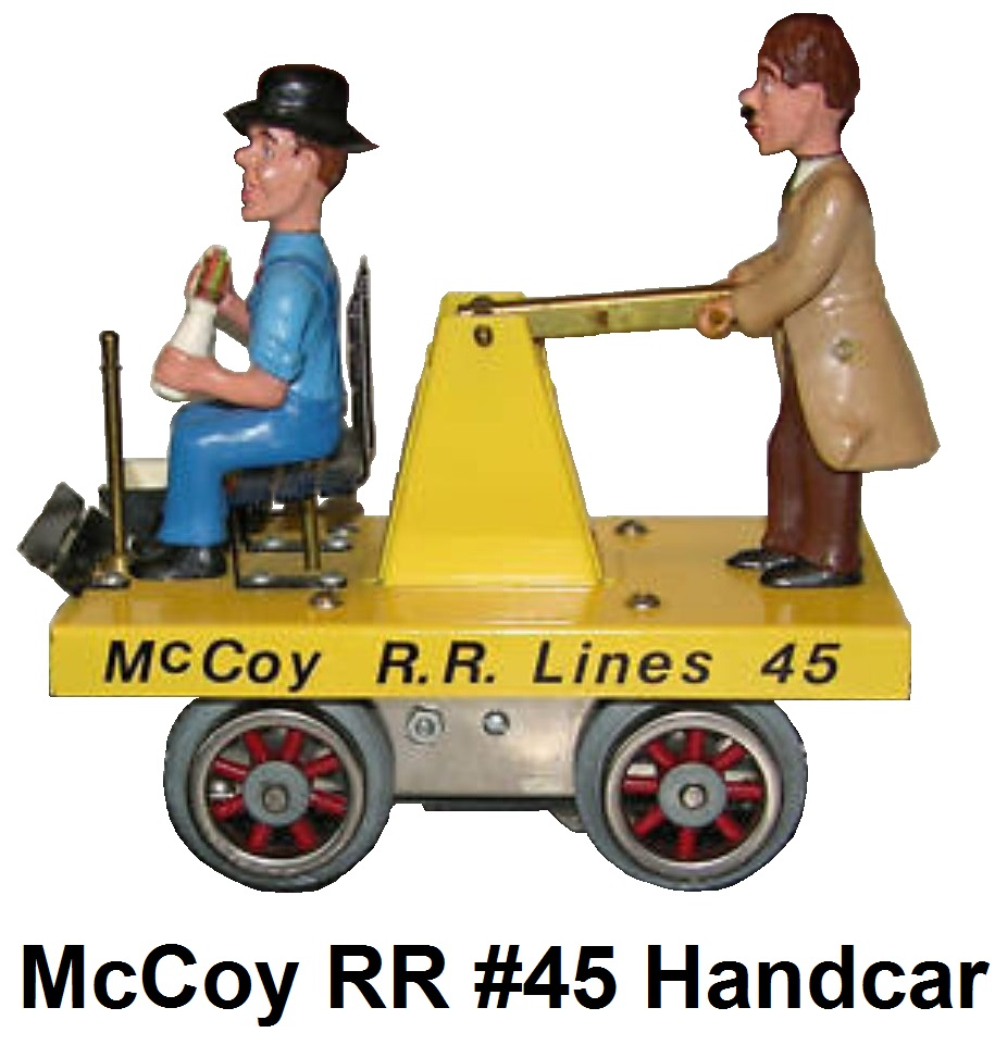 McCoy #45 handcar first produced in 1980