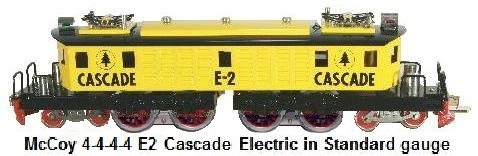 McCoy E2 Cascade 4-4-4-4 electric with dual motors first produced in 1971