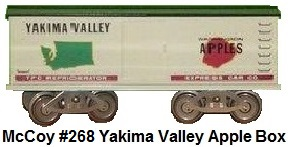 McCoy Yakima Valley Apples box car in Standard gauge made 1972-78