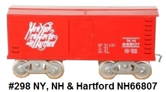 McCoy #298 New York, New Haven and Hartford NH66807 Standard gauge box car made 1986