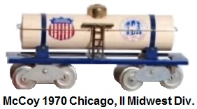 McCoy 1970 16th TCA Convention Standard gauge tank car representing the Midwest Division in Chicago Illinois