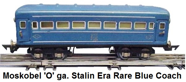 Moskobel Stalin era Rare blue-painted Coach (early version with MEP) USSR
