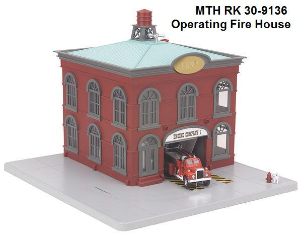 MTH operating firehouse accessory