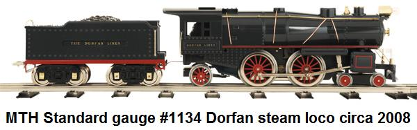 MTH #1134 Dorfan reproduction steam loco in Standard gauge circa 2008