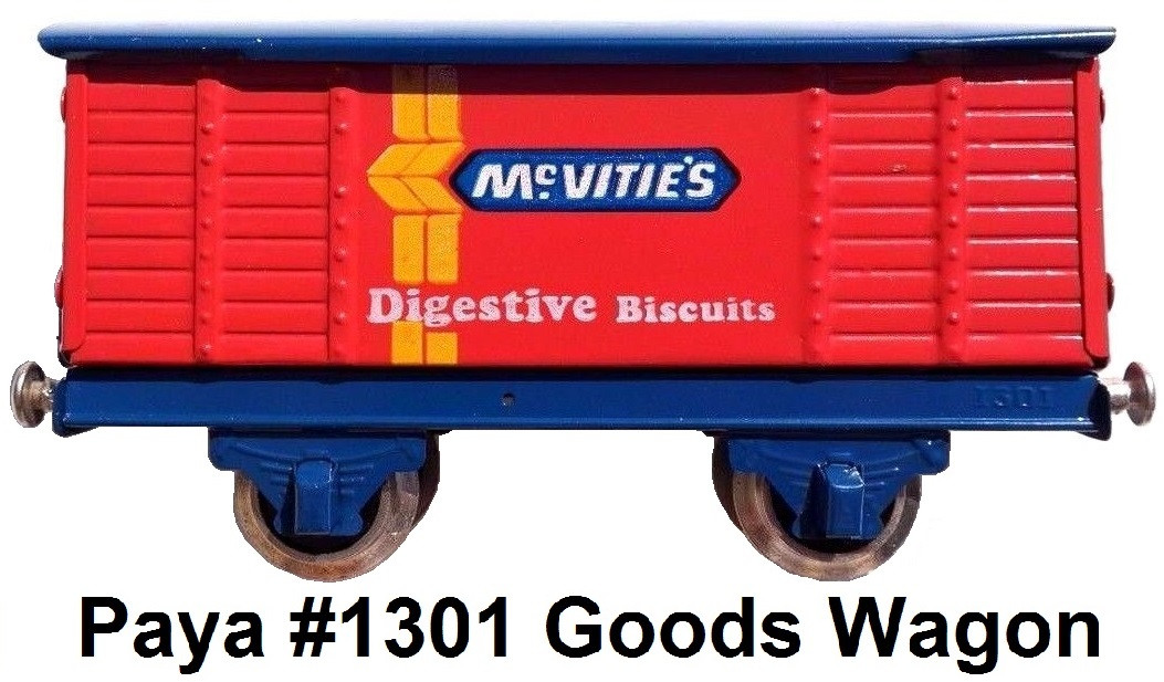 Payá 'O' gauge McVittes Digestive Biscuits Goods Wagon #1301