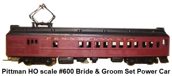 Pittman HO scale Bride & Groom Set power car