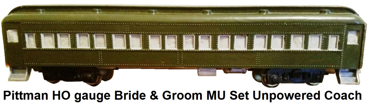 Pittman HO gauge Bride & Groom MU set unpowered passenger coach