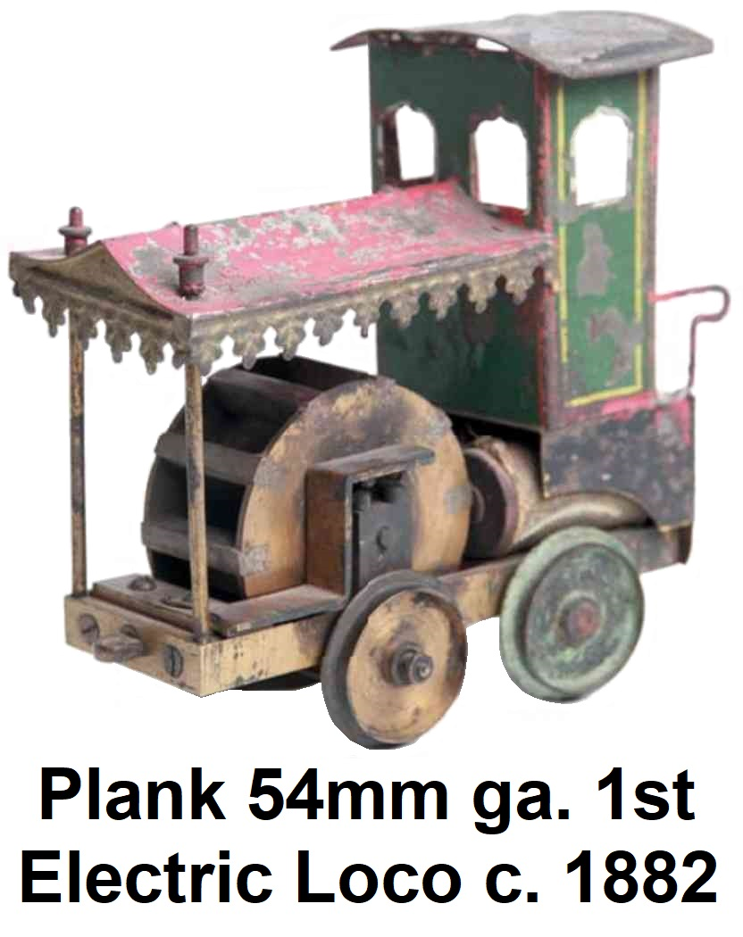 First electric train by Plank